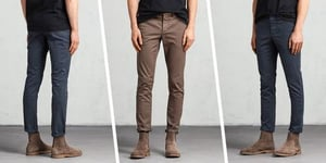 Colored Men Chinos Jeans