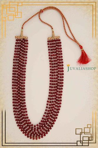 Designer Traditional Necklaces (7 Raw of Pearl and Ruby Beads)