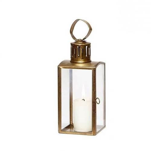 Brass Contemporary Candle Lantern