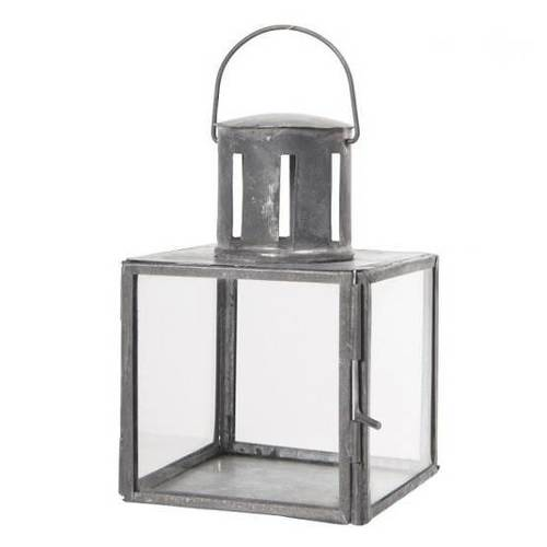Metal Mini Lantern With Black Zinc Antique Finish