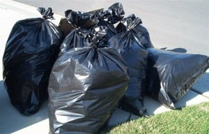 Black Color Disposable Garbage Bags