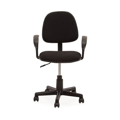 Black Color Computer Chair With Height Adjustable