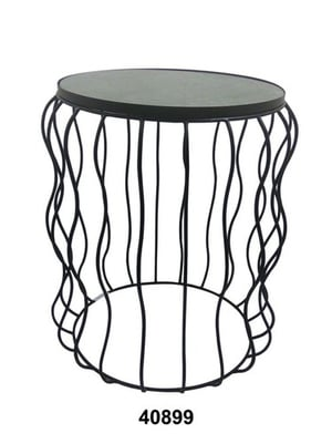 Round Iron Table With Marble Top