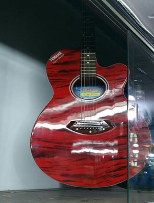 Red Color Spanish Guitar