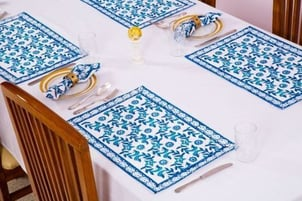 Durable Embroidered Table Mats