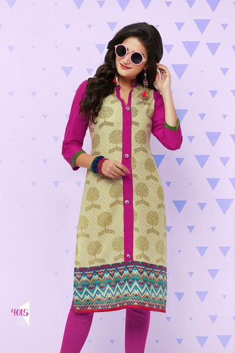 Alluring Design Printed Cotton Kurti