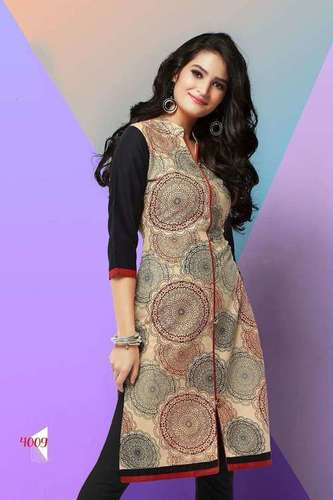 Attractive Design Printed Cotton Kurti