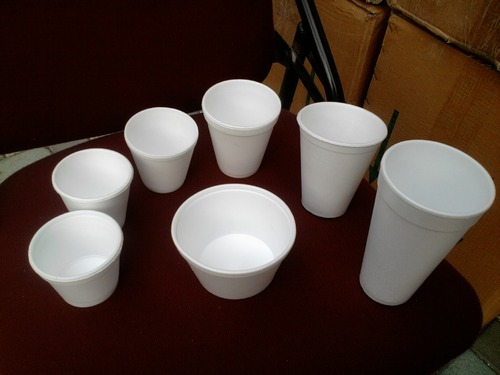 Disposable Thermocol Glass For Water / Coffee / Tea