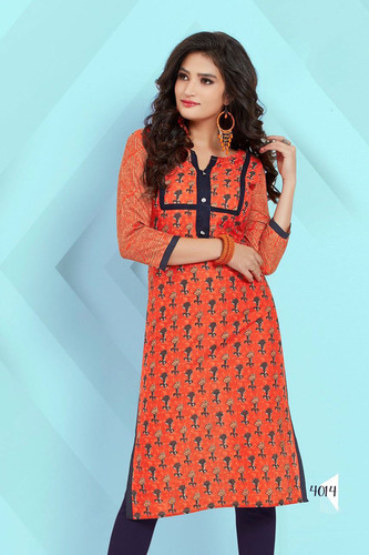 Modern Design Printed Cotton Kurti