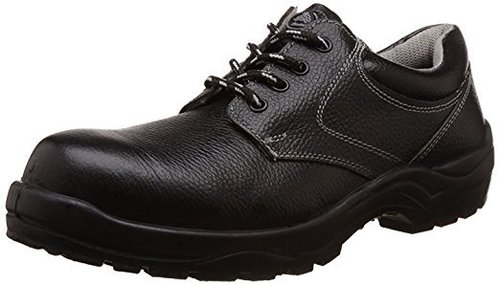 Plain Black Safety Shoes