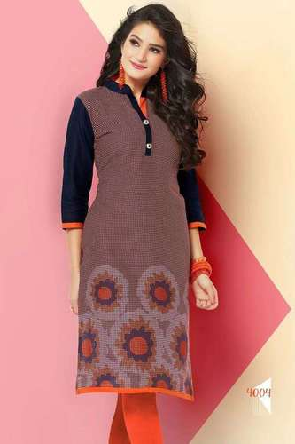 Trendy Printed Cotton Kurti