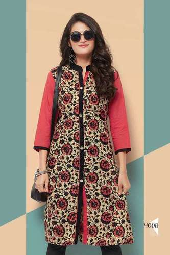 Women Printed Cotton Kurti