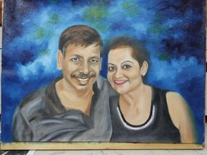 Handmade Portrait Oil Painting In Canvas