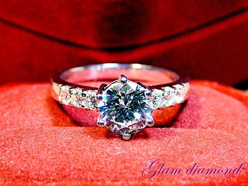 Fancy Ring With Flawless Cubic Zirconia Diamond