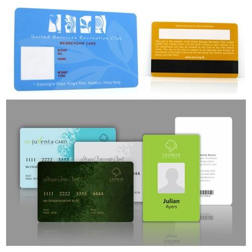Preprinted Plastic Card