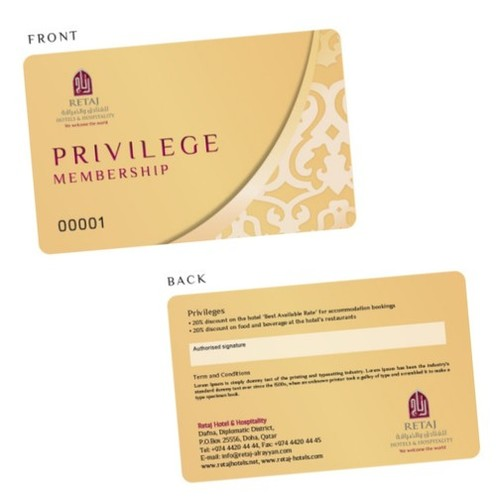 Privilege Membership Cards