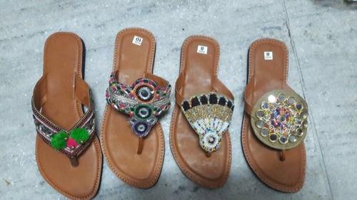 Ladies Customized Size Ethnic Chappals