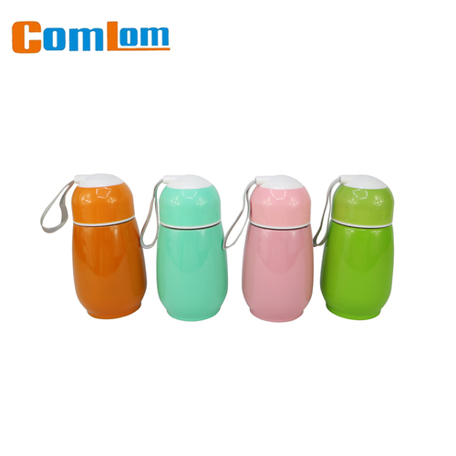dfd6ea05bfa Stainless Steel Cup Heart Shaped Candy Color Thermos Water Bottle ...