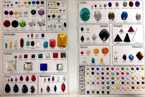 Premium Quality 2 Hole Acrylic Beads (Rhine Stones)