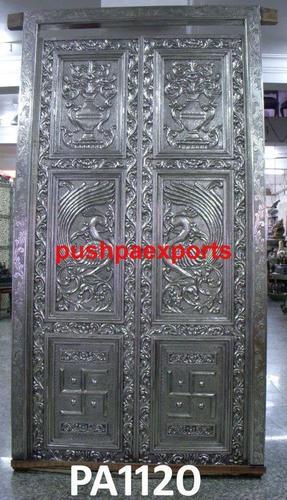 Silver Coated Temple Door