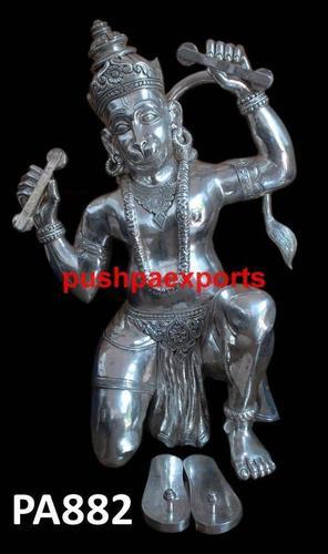 White Metal Hanuman Statue