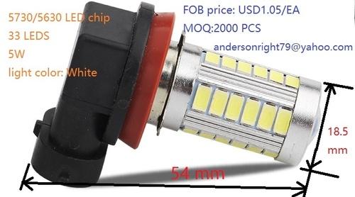 Auto Fog Lamp H11/H8 5630/5730 Smd 33 Leds 5w Usd1.05/Piece