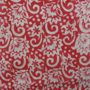 Traditional Floral Print Fabric