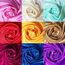 Colored Plain Silk Fabrics