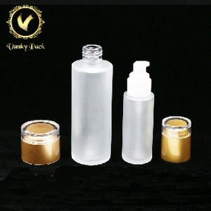 Luxury Cosmetic Packaging Empty Facial Mask Glass Jars Whole Sets