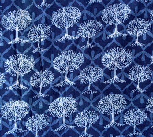 Dabu Indigo Hand Block Printed Fabric