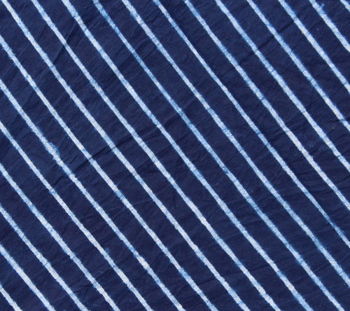 Indigo Blue Stripe Print Fabric