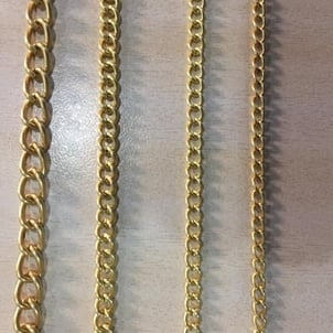 Iron Chain With Crome/ Rose Gold Polish