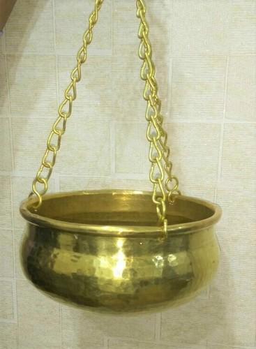 Hanging Brass Planters