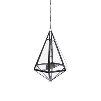 Hanging Glass Geometry Tealight Holder