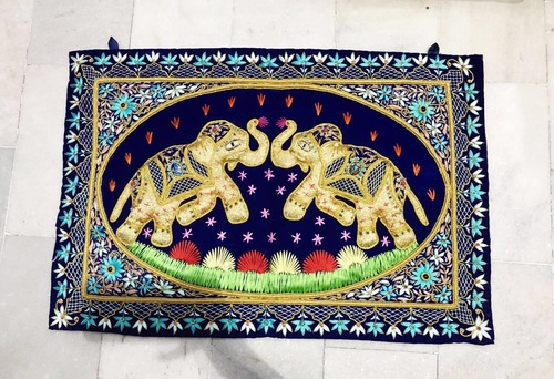 Elephant Zardosi Wall Hanging