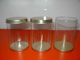 Food Glass Tin Container