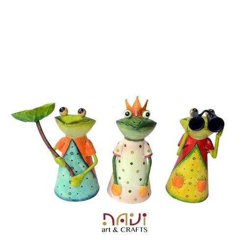 Handmade Iron Decorative Frog Showpiece