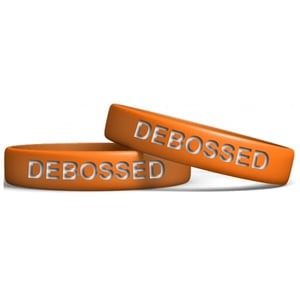 Promotional Debossed Silicon Wristband