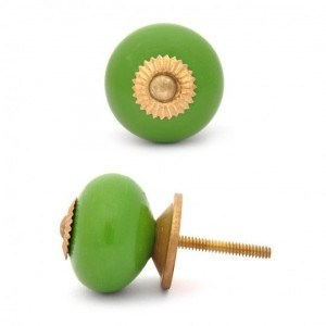 Green Ceramic Knobs