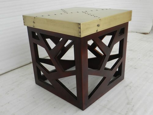 Aviator Brass Hocker Stool