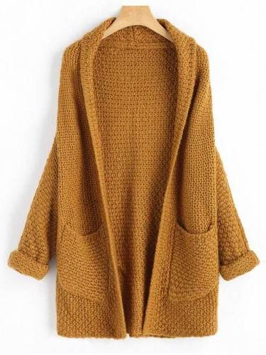 Ladies Fancy Brown Cardigan