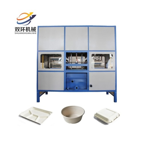 Sugarcane Bagasse Tableware and Paper Plate Making Machine