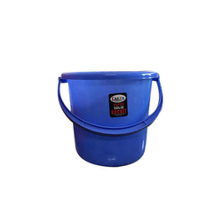 Blue Plastic Bucket With Handle