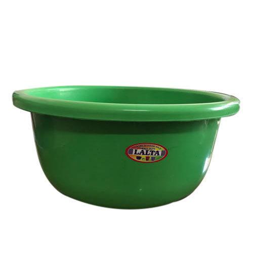 Green Round Plastic Tub