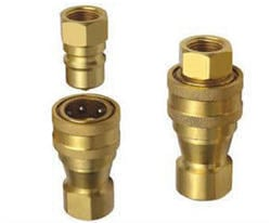 Bright Hydraulic Quick Release Coupling
