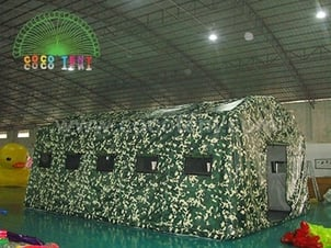Camouflage Inflatable Emergency Military Tent