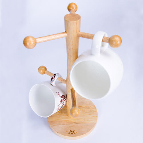 Wooden Tea Cup Stand