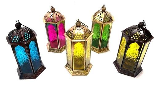 Colored Moroccan Lantern