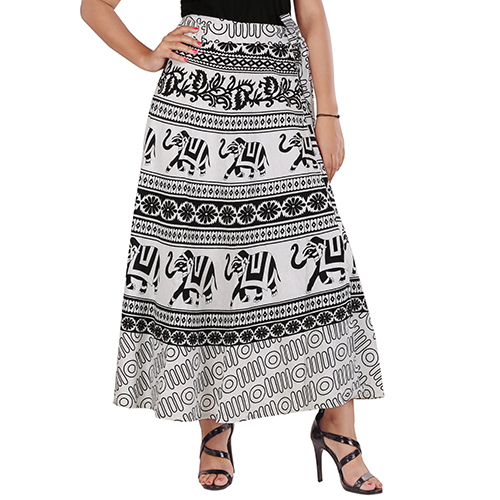Handloom Palace Long Skirt Wrap Around Printed