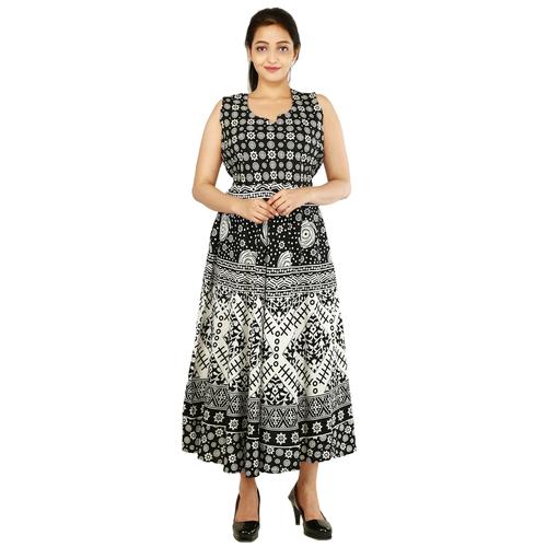 Handloom Palace Long Women Dress Maxi Multi Color